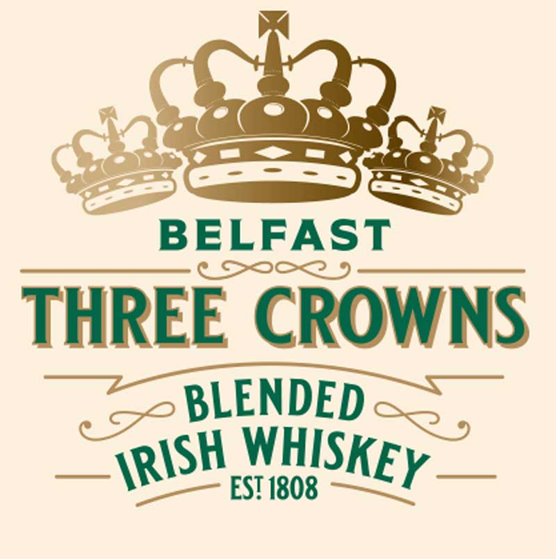 Dunville's Three Crowns Peated Irish Whiskey Logo