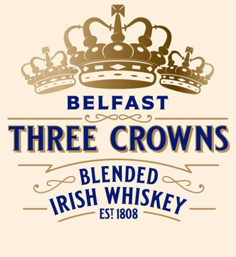 Dunville's Three Crowns Blended Irish Whiskey logo