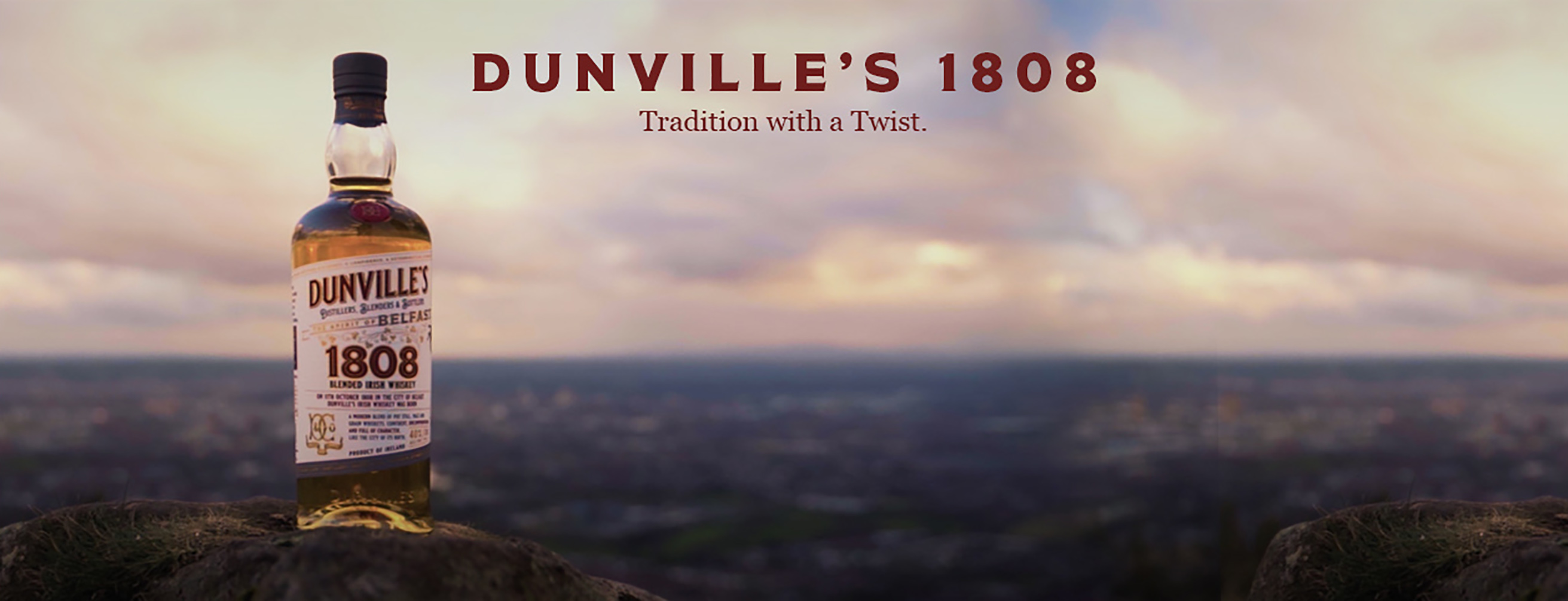 Dunville's 1808 Whiskey bottle on Cave Hill Belfast