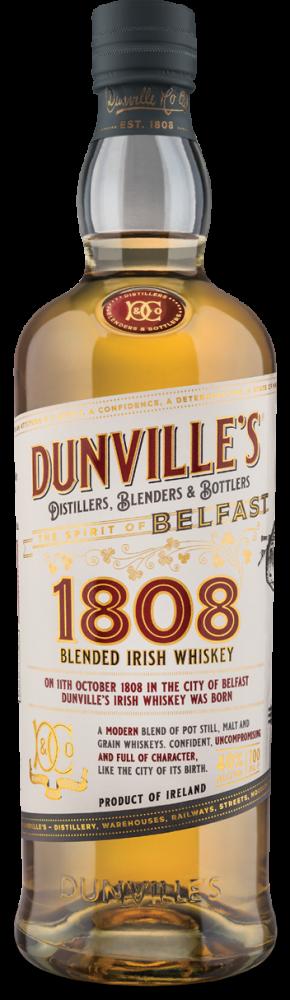 Dunville's 1808 Blended Irish Whiskey bottle